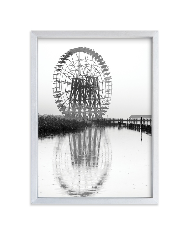"""Wheel in the mist"" - Art Print by van tsao in beautiful frame options and a variety of sizes."