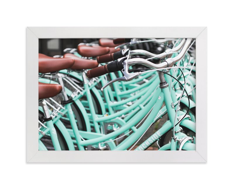 """Bicycle Row"" - Art Print by Annie Montgomery in beautiful frame options and a variety of sizes."