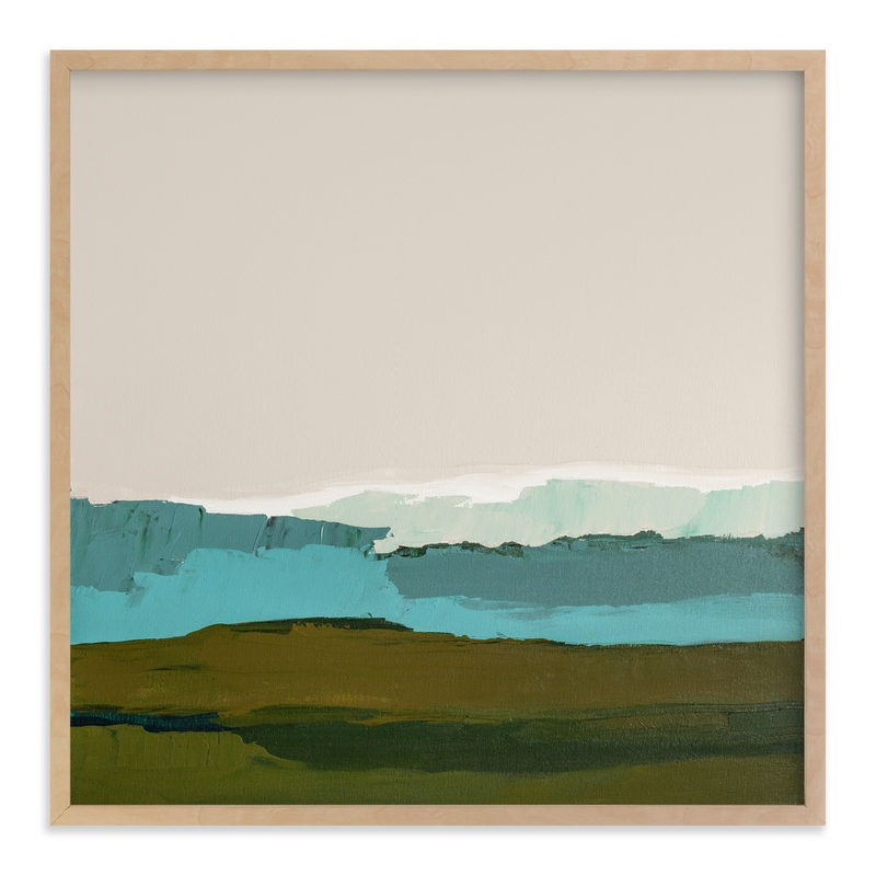 """Abstract Seascape #1"" - Art Print by Caryn Owen in beautiful frame options and a variety of sizes."