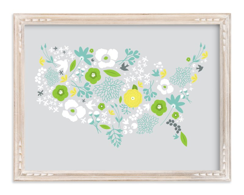 """United Florals"" - Art Print by Bethany Anderson in beautiful frame options and a variety of sizes."