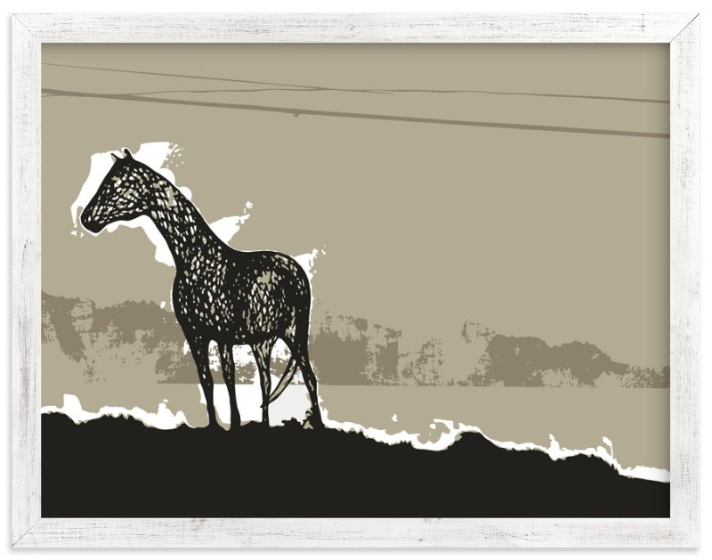 """Horse & Earth"" - Art Print by Melissa Ponicsan in beautiful frame options and a variety of sizes."