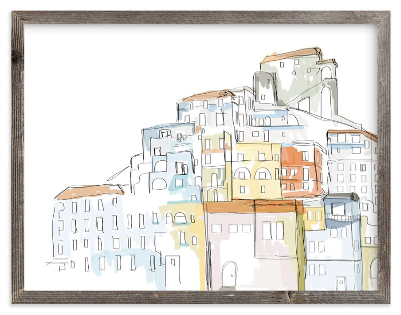 """Amalfi Coast"" - Art Print by R studio in beautiful frame options and a variety of sizes."
