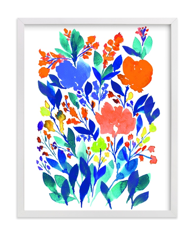 """""""hand painted flowers_5h"""" - Art Print by aticnomar in beautiful frame options and a variety of sizes."""