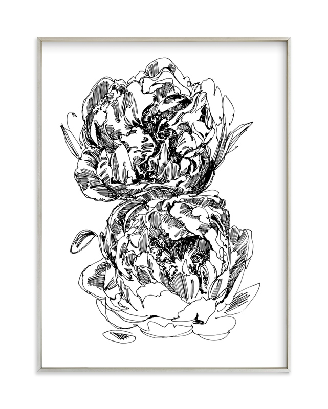 """""""two peonies"""" - Art Print by IMG_101 in beautiful frame options and a variety of sizes."""
