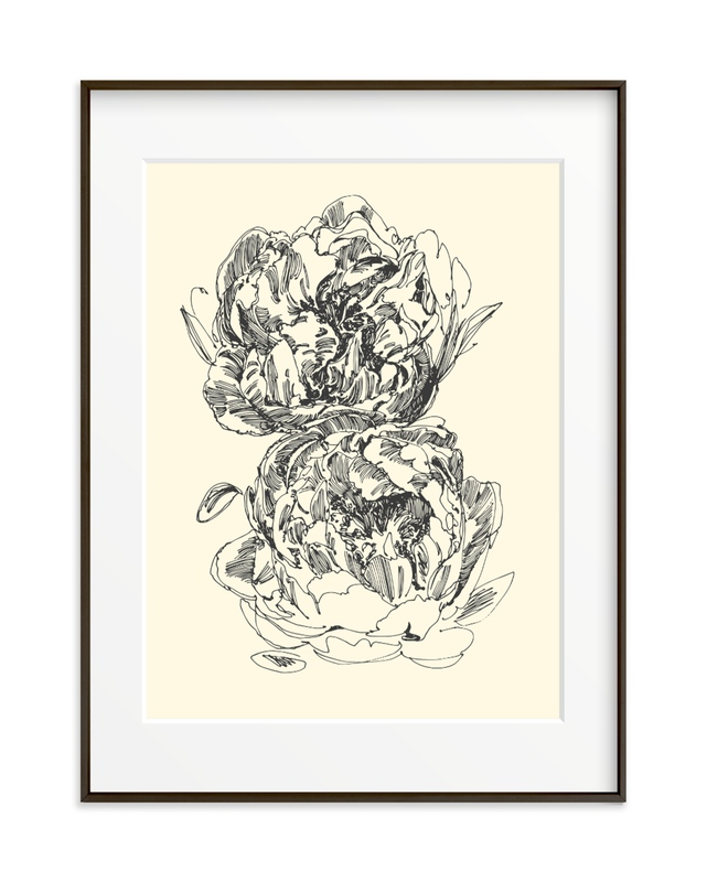 two peonies Art Print