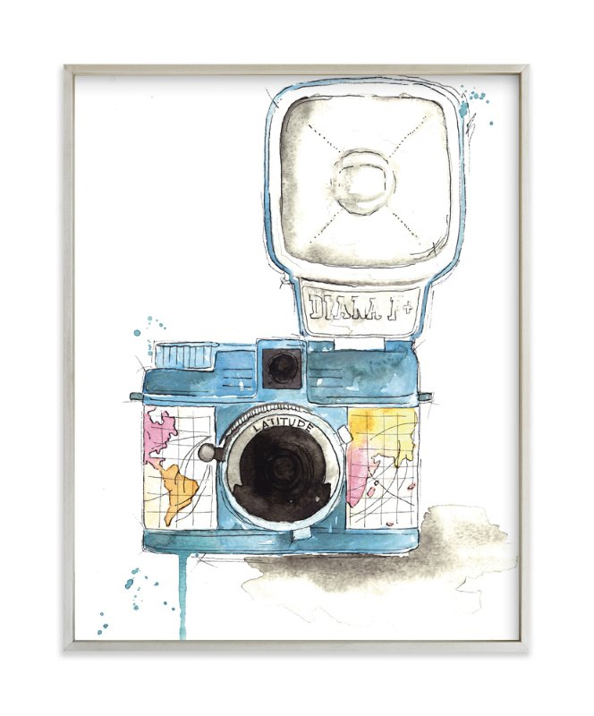 """""""Wanderlust Camera"""" - Art Print by Kelsey McNatt in beautiful frame options and a variety of sizes."""