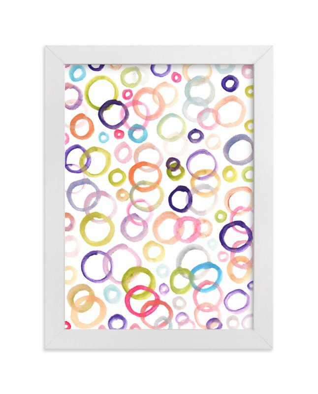 """painted circle"" - Art Print by aticnomar in beautiful frame options and a variety of sizes."