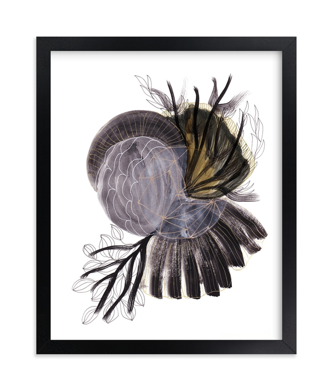 """Black Universe"" - Art Print by Maggie Burns in beautiful frame options and a variety of sizes."