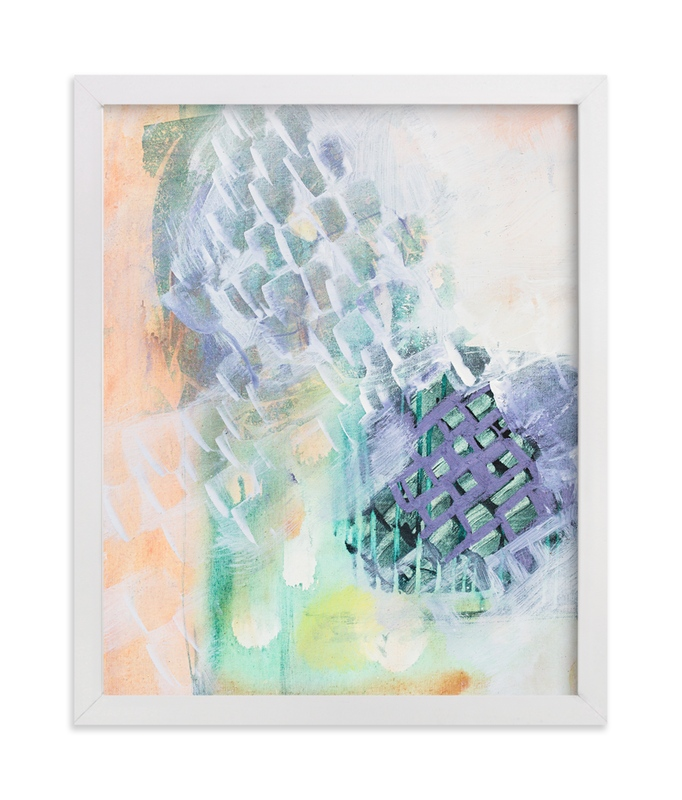 """Leap and the Net will Appear"" - Art Print by Stacy Kron in beautiful frame options and a variety of sizes."