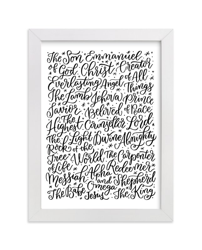 """""""All the Names of Jesus"""" - Art Print by Laura Bolter Design in beautiful frame options and a variety of sizes."""