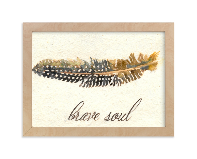"""""""Brave Soul"""" - Art Print by Stephanie Toral in beautiful frame options and a variety of sizes."""