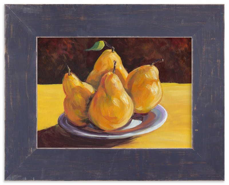 """""""First Pears"""" - Art Print by Robert Deem in beautiful frame options and a variety of sizes."""