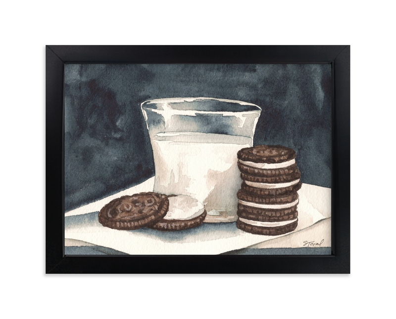 """Milk & Cookies by Stephanie Toral"" - Art Print by Stephanie Toral in beautiful frame options and a variety of sizes."