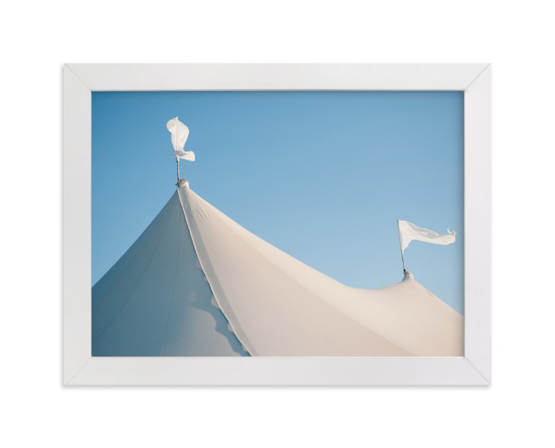 """""""White Tents"""" - Art Print by Whitney Deal in beautiful frame options and a variety of sizes."""