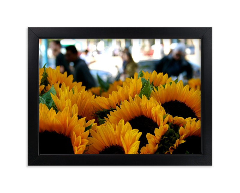 """""""Sunflower Market"""" - Art Print by AJD in beautiful frame options and a variety of sizes."""