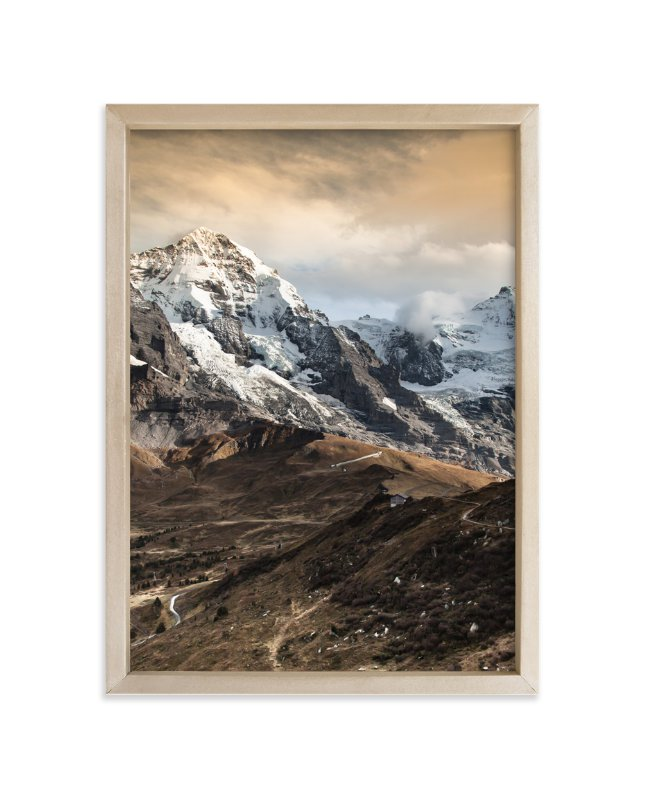 """""""On the ridge"""" - Art Print by van tsao in beautiful frame options and a variety of sizes."""