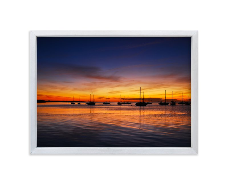 """Sunset Bay"" - Art Print by Mark Kirby in beautiful frame options and a variety of sizes."