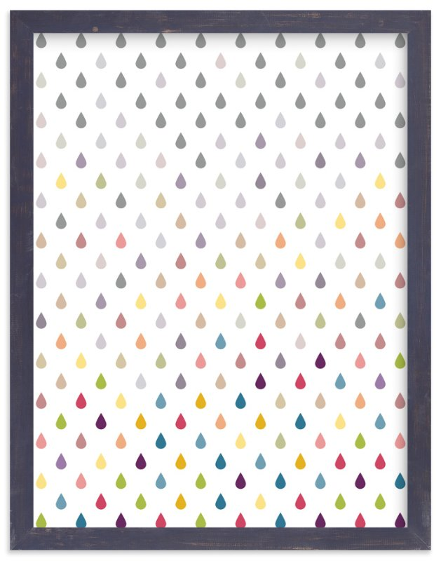 """Coloring Raindrops"" - Art Print by Erin Niehenke in beautiful frame options and a variety of sizes."