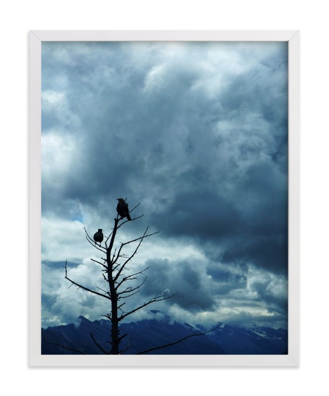 """""""Crows"""" - Art Print by XL in beautiful frame options and a variety of sizes."""