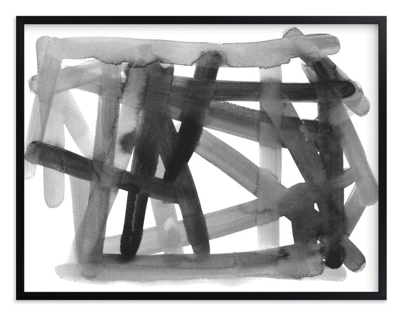 """""""Pick Up Sticks"""" - Art Print by Kim Johnson in beautiful frame options and a variety of sizes."""