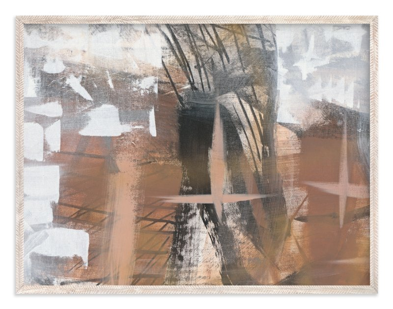 """""""Neutral Mist and Star Series 1"""" - Art Print by Angela Simeone in beautiful frame options and a variety of sizes."""