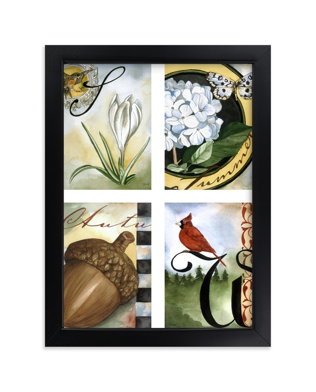 """""""The Four Seasons II"""" - Art Print by Stephanie Toral in beautiful frame options and a variety of sizes."""