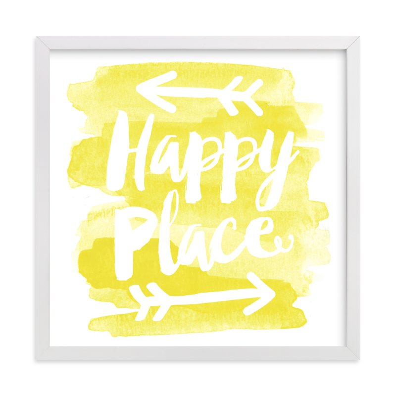 """""""Happy Place"""" - Art Print by Jessie Steury in beautiful frame options and a variety of sizes."""