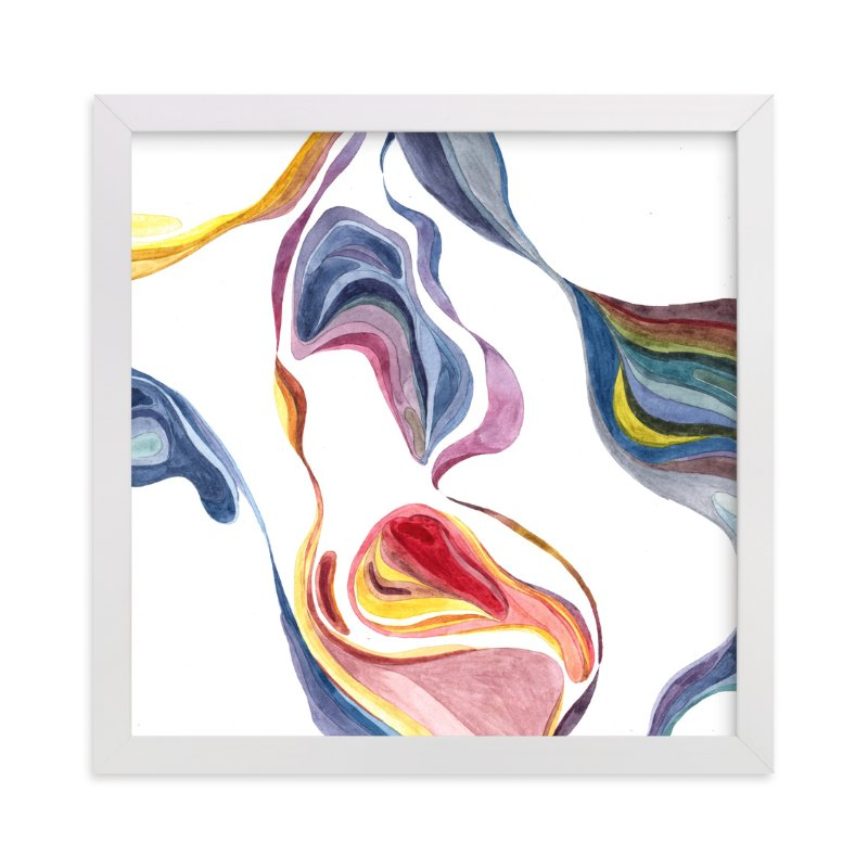 """""""Flow in colors"""" - Art Print by XL in beautiful frame options and a variety of sizes."""