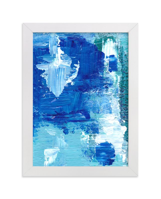 """""""Ocean Breeze"""" - Art Print by Ilana Greenberg in beautiful frame options and a variety of sizes."""