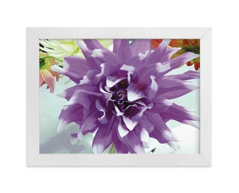 """""""Watercolor Dahlia"""" - Art Print by A Maz Designs in beautiful frame options and a variety of sizes."""