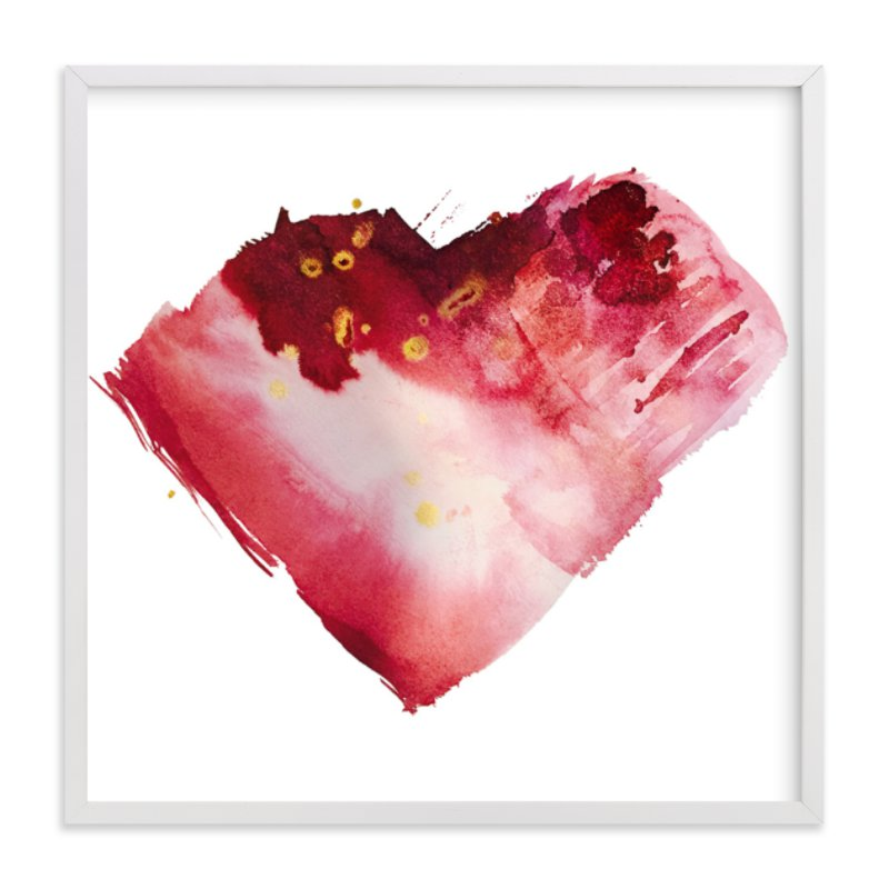"""""""My Heart Beats"""" - Art Print by CaroleeXpressions in beautiful frame options and a variety of sizes."""