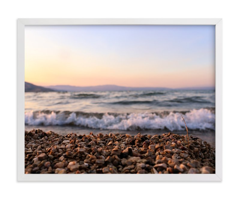 """""""Sea of Galilee"""" - Art Print by Heather Squance in beautiful frame options and a variety of sizes."""