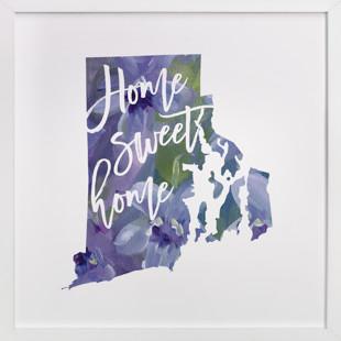 Rhode Island (Violet)  Art Print