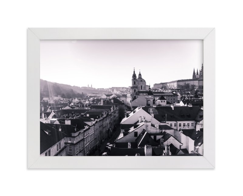 """Sunshine Over Prague"" - Art Print by Heather Squance in beautiful frame options and a variety of sizes."