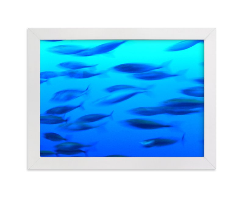 """Swimming 2"" - Art Print by Jan Kessel in beautiful frame options and a variety of sizes."