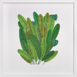 Green Leaf Bouquet  Art Print