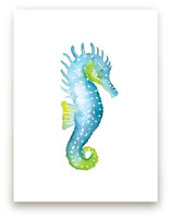 Speckled Seahorse by Smudge Design