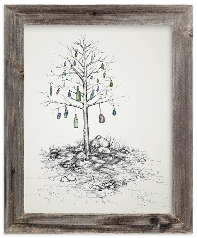 """""""Time Capsule"""" - Art Print by Cynthia Oswald in beautiful frame options and a variety of sizes."""