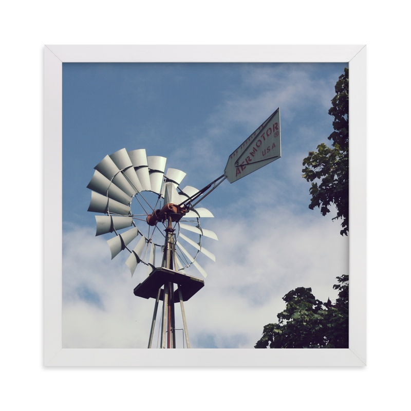 """""""Aermotor"""" - Art Print by Gray Star Design in beautiful frame options and a variety of sizes."""