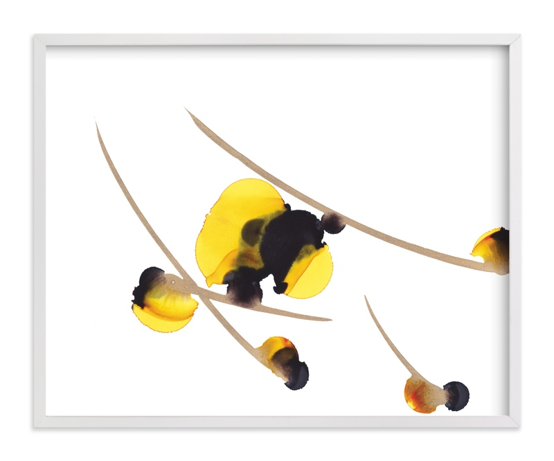 """""""Yellow Blooms """" - Art Print by Jennifer Morehead in beautiful frame options and a variety of sizes."""