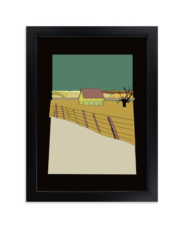 """Old Barn"" - Art Print by Pat Jennings in beautiful frame options and a variety of sizes."