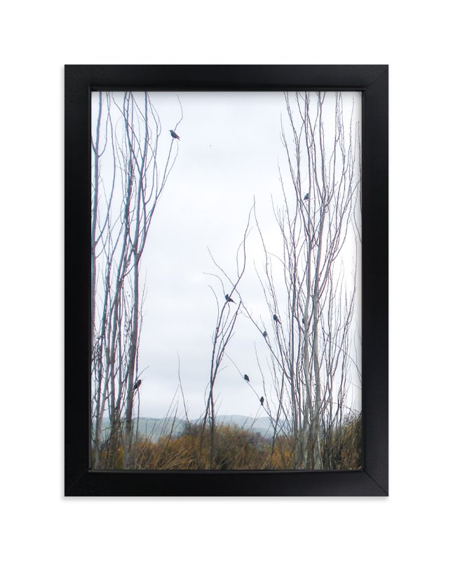 """""""Nine Birds"""" - Art Print by Celia Maria in beautiful frame options and a variety of sizes."""
