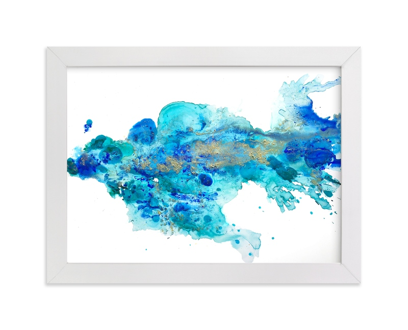 """""""Sea Creature"""" - Art Print by Michelle Jean in beautiful frame options and a variety of sizes."""