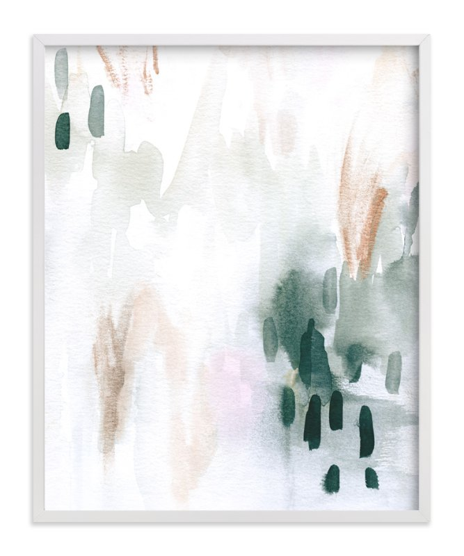 This is a grey art by Melanie Severin called Ever Softly.