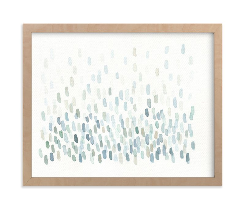 """""""Cascading River Stones"""" - Art Print by Tennyson Tippy in beautiful frame options and a variety of sizes."""