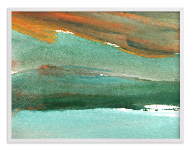 """watercolor abstract painting4"" - Art Print by aticnomar in beautiful frame options and a variety of sizes."