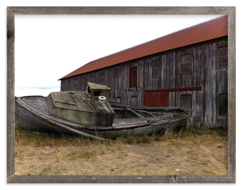 """Old Boat"" - Art Print by Jan Kessel in beautiful frame options and a variety of sizes."