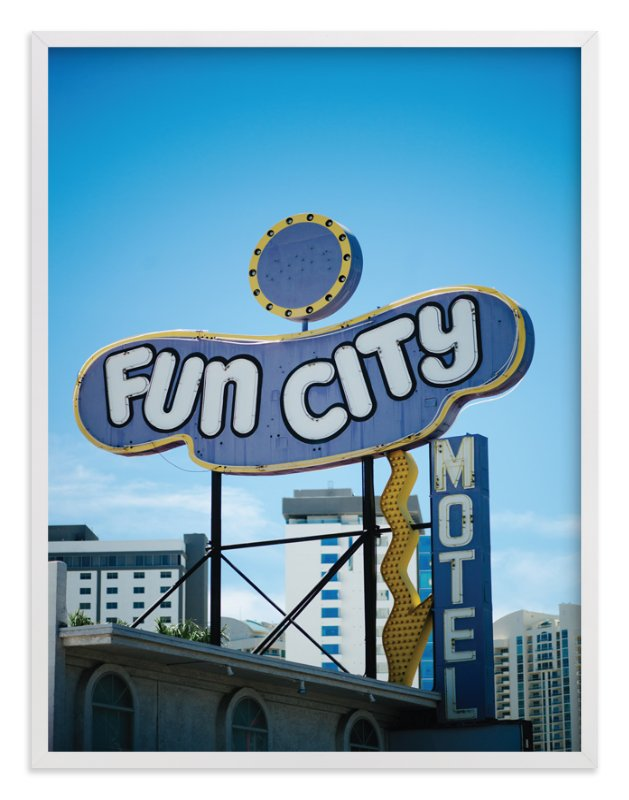 """""""Fun City"""" - Art Print by Jennifer Little in beautiful frame options and a variety of sizes."""