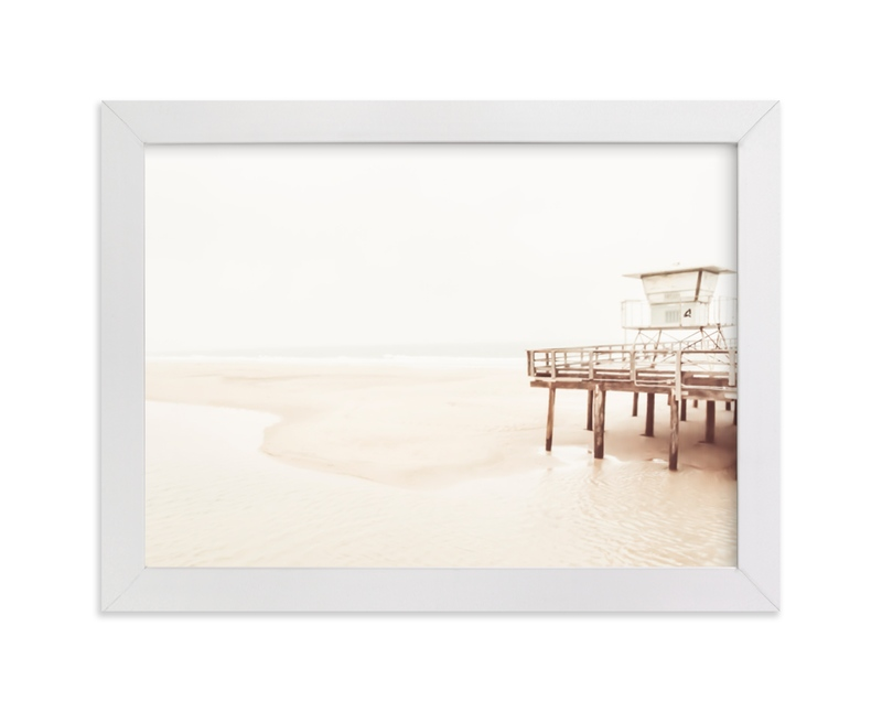 """Stormy Pier 3"" - Art Print by Kamala Nahas in beautiful frame options and a variety of sizes."