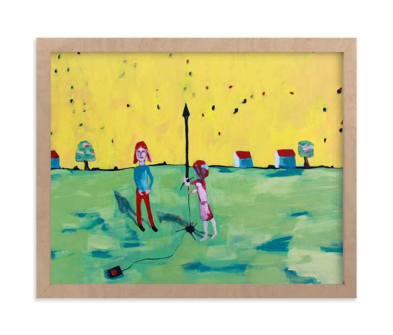 """""""Rocket Girls"""" - Art Print by Tracie Christine in beautiful frame options and a variety of sizes."""